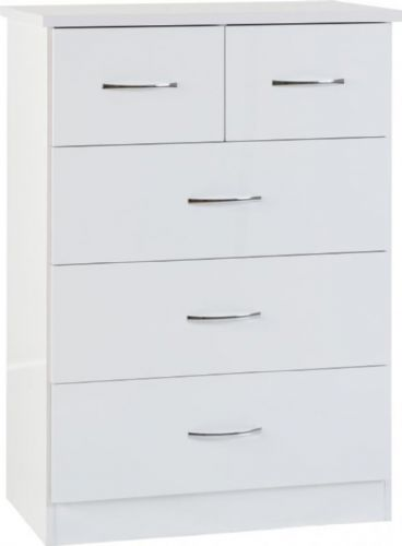 Blanca White 5 Chest of Drawers